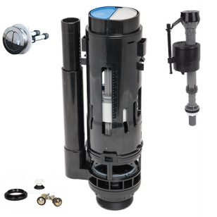 Fluidmaster Dual Push Syphon and Bottom Entry Filling Valve full kit