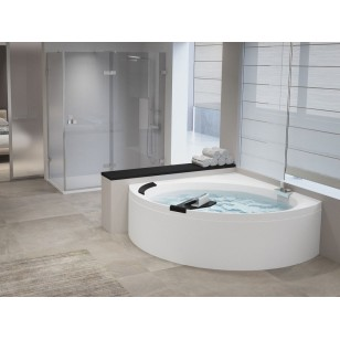 Novellini Divina C (Whirlpool+Airpool) Corner Bath with Shell and Mixer 1400 x 1400mm