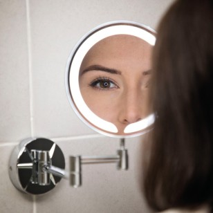 SCUDO Round LED make-up Mirror Wall Mounted