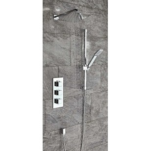 SCUDO Component Square Thermostatic Shower Set Four