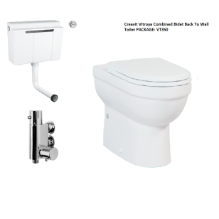 Creavit Vitroya Combined Bidet Back To Wall Toilet PACKAGE 1