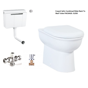 Creavit Selin Combined Bidet Back To Wall Toilet PACKAGE 2